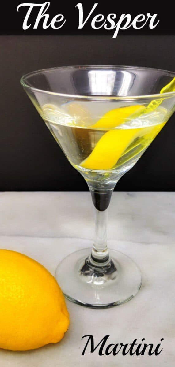 The Vesper Martini is a cocktail that needs no introduction for fans of Ian Fleming's James Bond novels. It was both invented and named by Mr. Fleming and was first introduced in the 1953 novel, Casino Royale. #martini #danielcraig #vesper #007