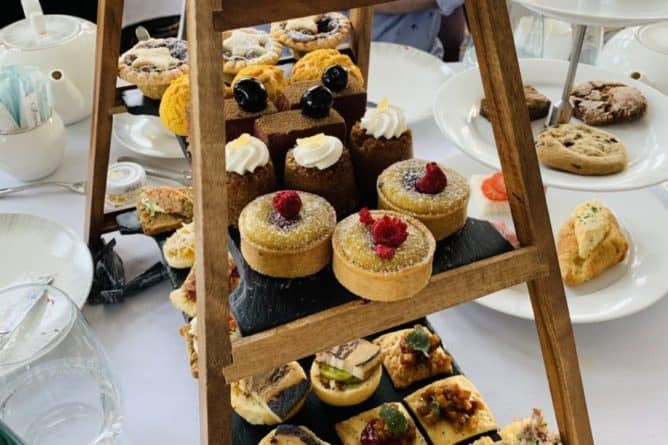 Afternoon Tea at the Fairmont Banff Springs - delightful savoury little sandwiches and sweet treats