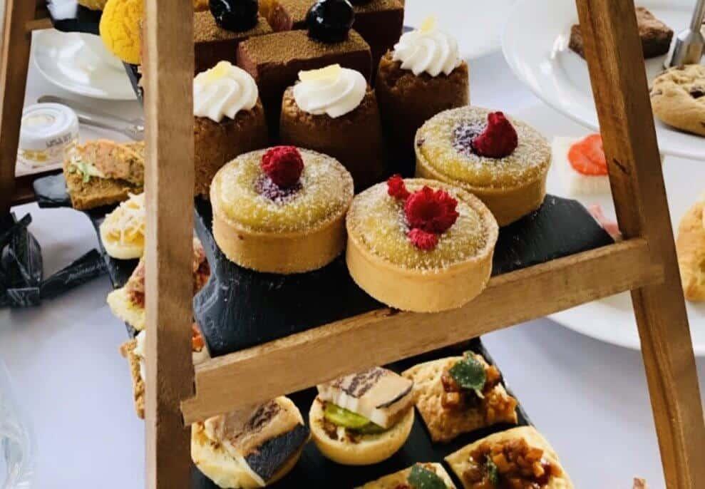 delightful savoury little sandwiches and sweet treats