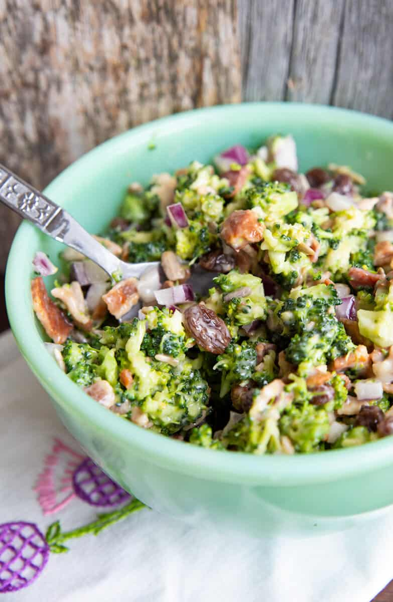Classic Bacon Broccoli Salad Recipe The Kitchen Magpie