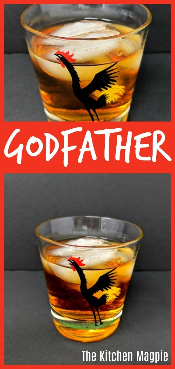 The Deliciously Sweet Godfather Cocktail #cocktail #godfather #amaretto #scotch #whiskey #whisky