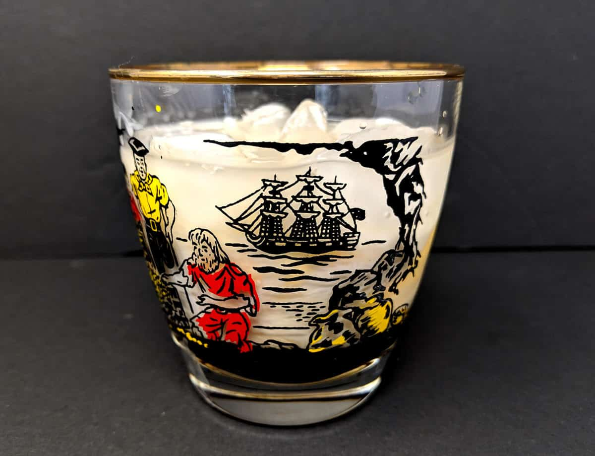 White Russian Cocktail in an old fashioned glass
