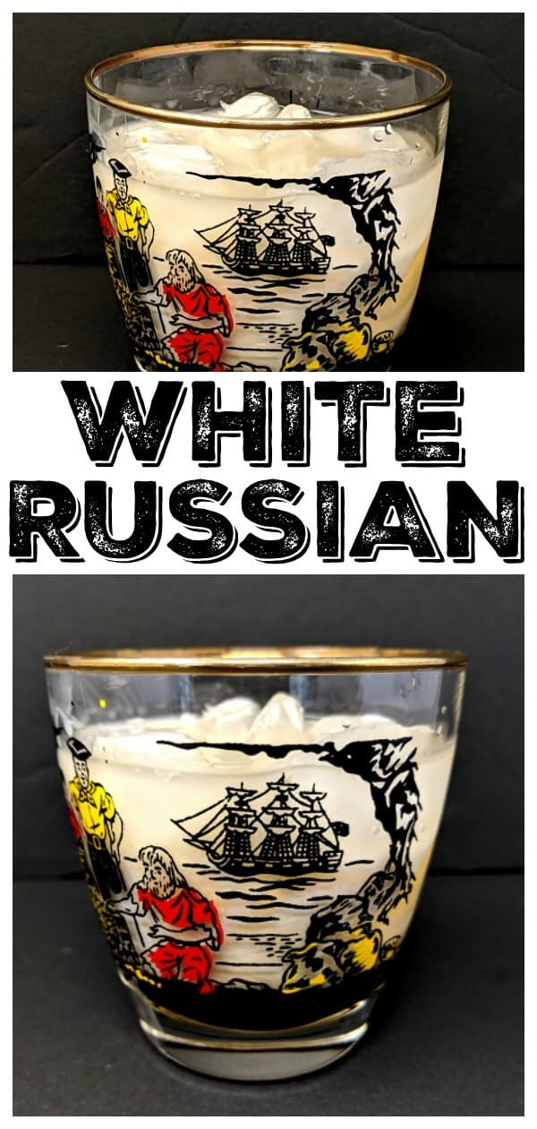 A Delicious White Russian Cocktail #recipe #cocktail #kahlua #vodka #drink