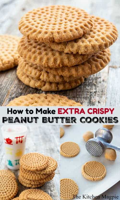 How to make perfectly crispy peanut butter cookies, with a method that I have perfected that results in AMAZINGLY crispy cookies every time!