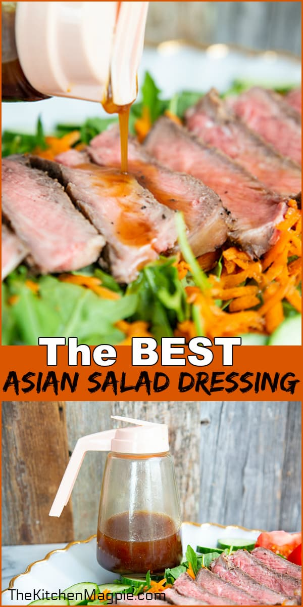 How to make a fast and easy sesame oil based Asian salad dressing. This base recipe can be tweaked to your liking taste-wise.