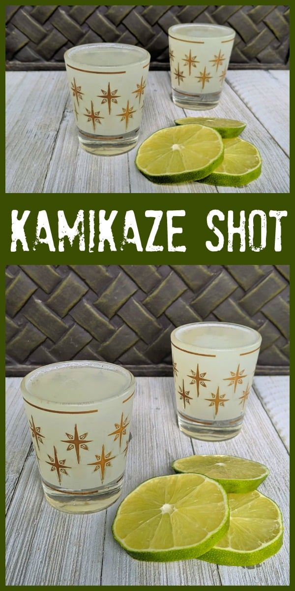 Kamikaze Cocktail Shot @kitchenmagpie #kamikaze #cocktail #shot #lime #vodka #triplesec