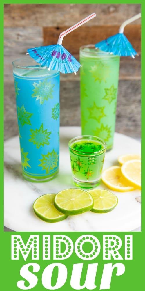 The Midori Sour from @kitchenmagpie #midori #sour #vodka #melon #liquor #liqueur #recipe #cocktail