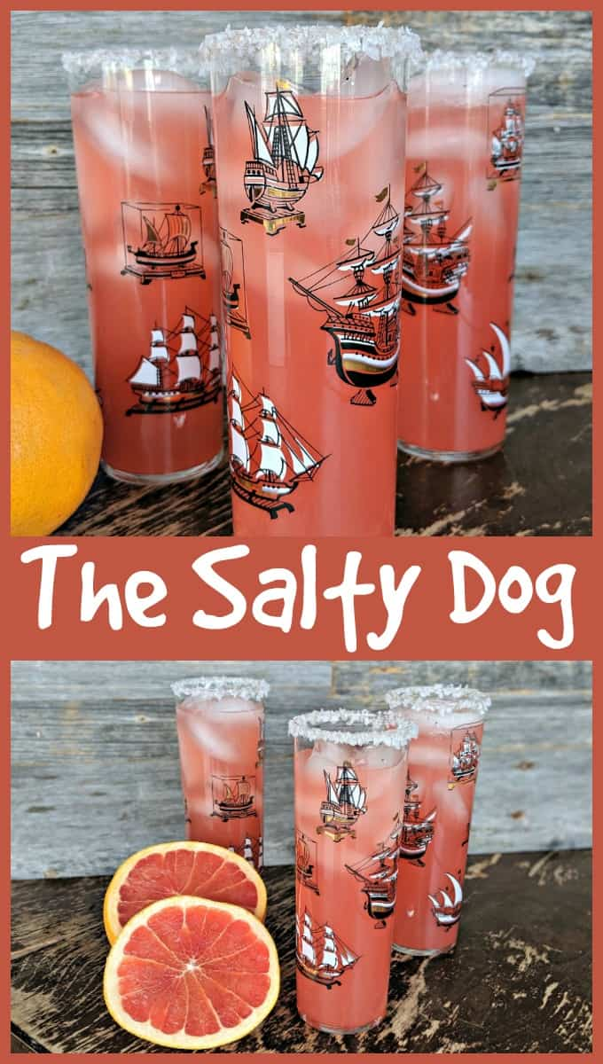 The Salty Dog cocktail by @kitchenmagpie #cocktail #vodka #gin #saltydog