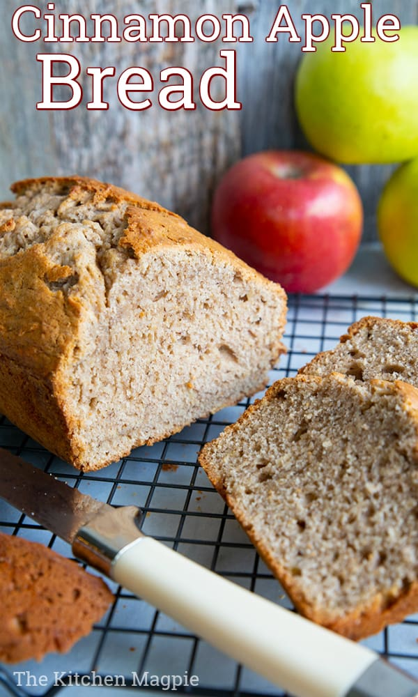 This easy, quick and deliriously spicy apple bread is a fabulous way to bake using apples! Perfect for breakfast and tea time!