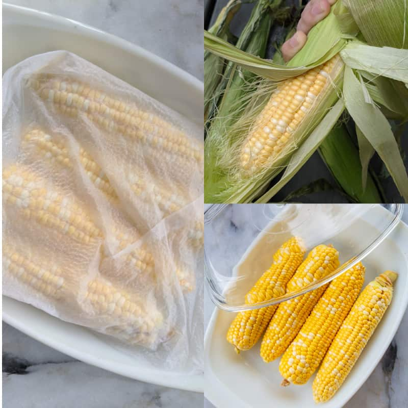 Step by step method on How to Microwave Corn on the Cob