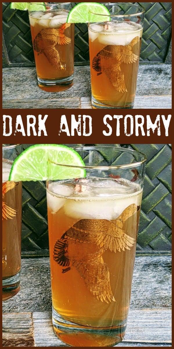 Dark and Stormy - @Thekitchenmagpie #cocktail #darkrum #rum #gingerbeer #lime