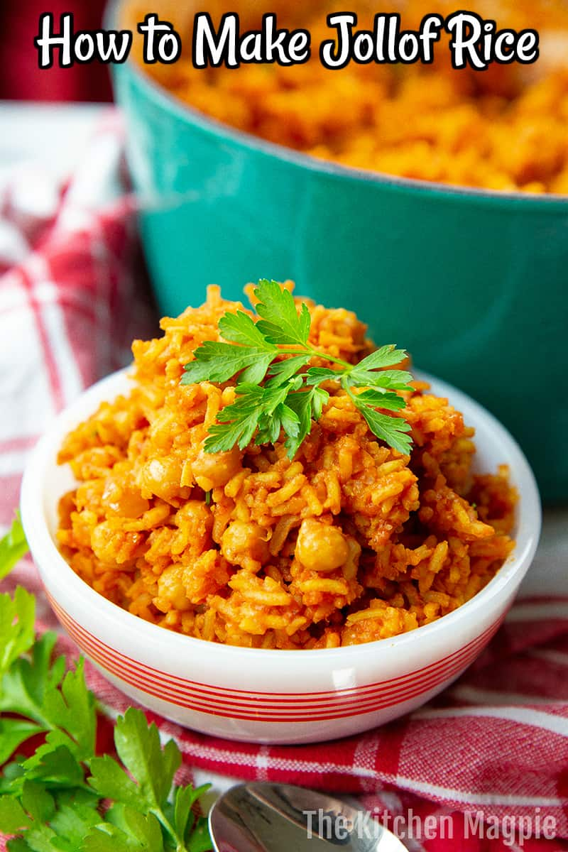 This spice infused tomato based Jollof rice is given a protein boost by adding in chickpeas (or lentils if you prefer) to make a fully balanced meal.