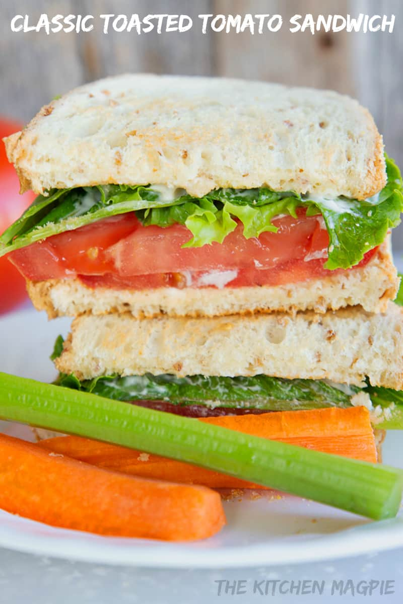 Nothing beats a tomato sandwich made with your favorite bread, lightly toasted with summer tomatoes sandwiches between - and don't forget the mayo!