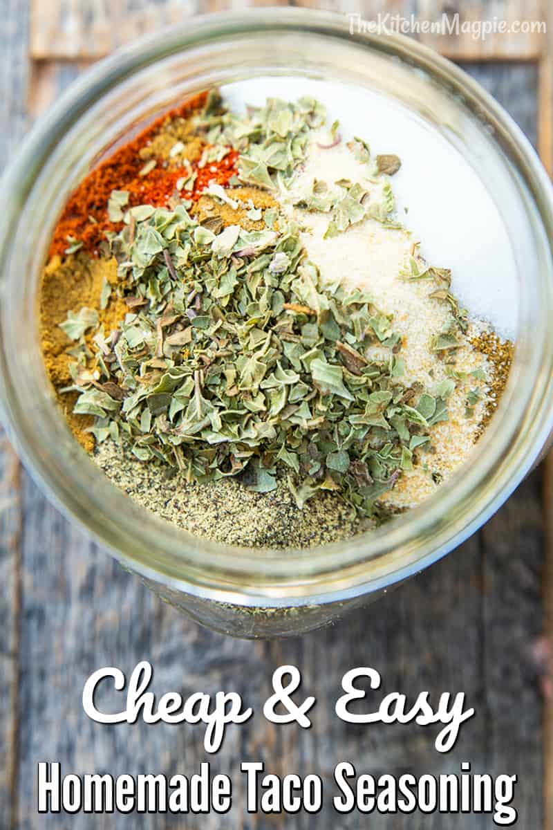 This is the best homemade taco seasoning recipe, easy to make, easy to customize to your tastes and not to mention it's incredibly cheaper than store-bought taco mixes!