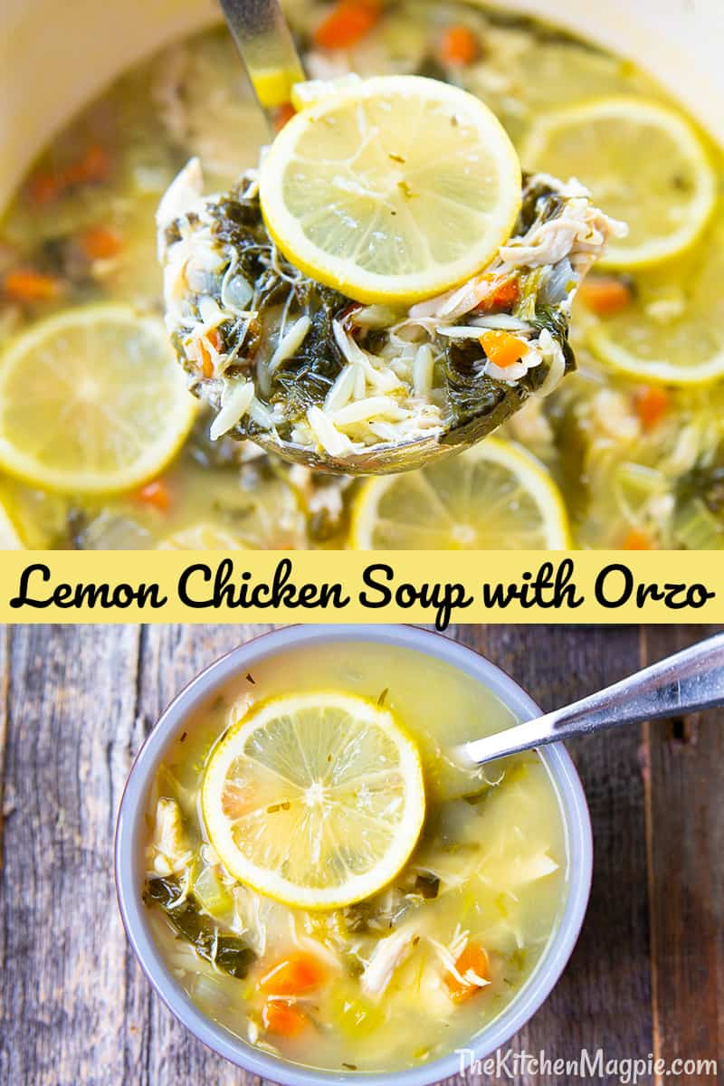 Lemon chicken soup with orzo is a zesty, healthy and easy to make soup that the entire family will love! The light lemon flavor goes perfectly with the hearty chicken, vegetables and orzo.