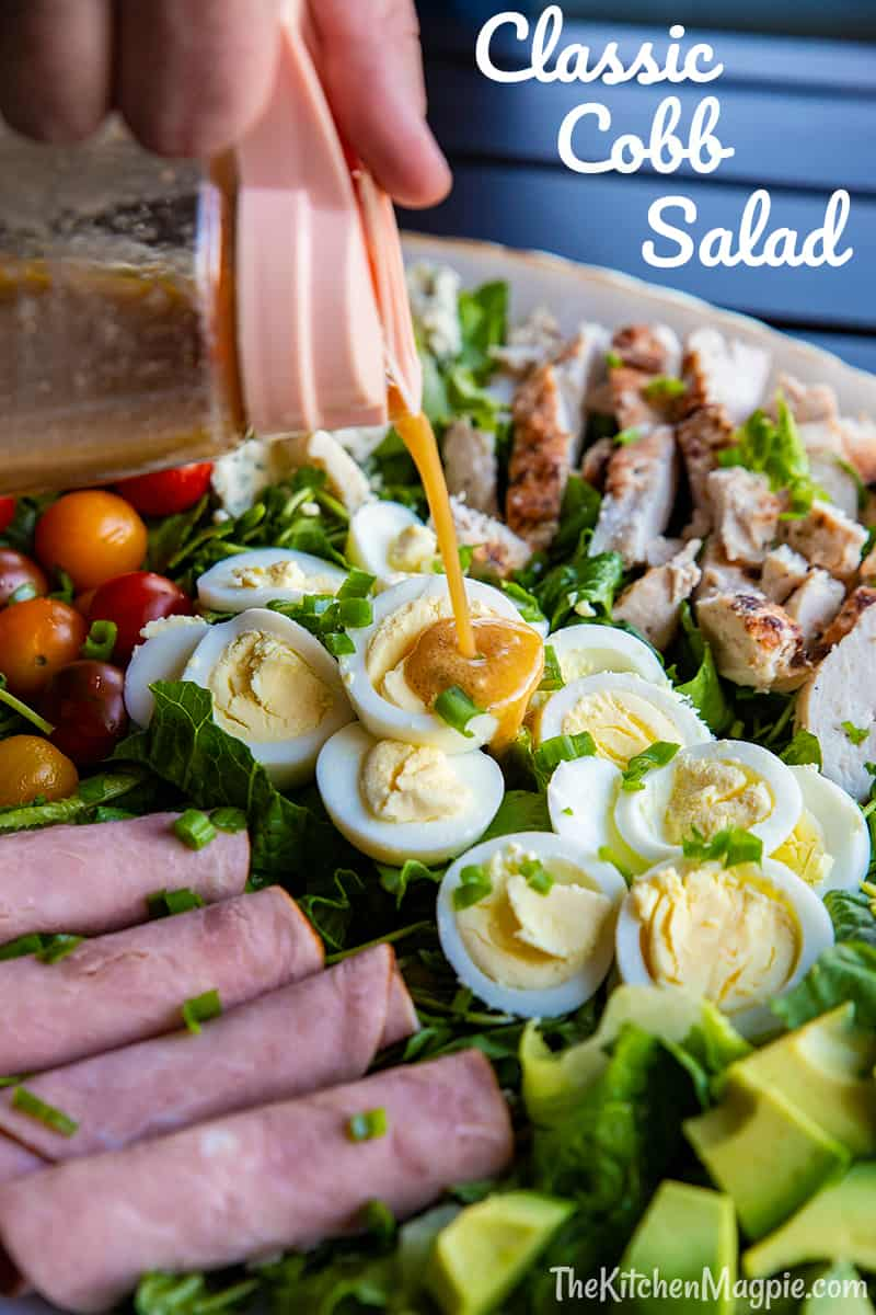 How to make a classic Cobb salad! This healthy, protein packed salad has been a restaurant favorite for decades, try it and see why!