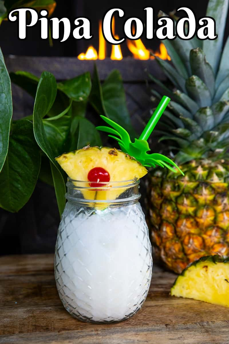 Pina Colada by @kitchenmagpie #cocktail #coconut #pineapple