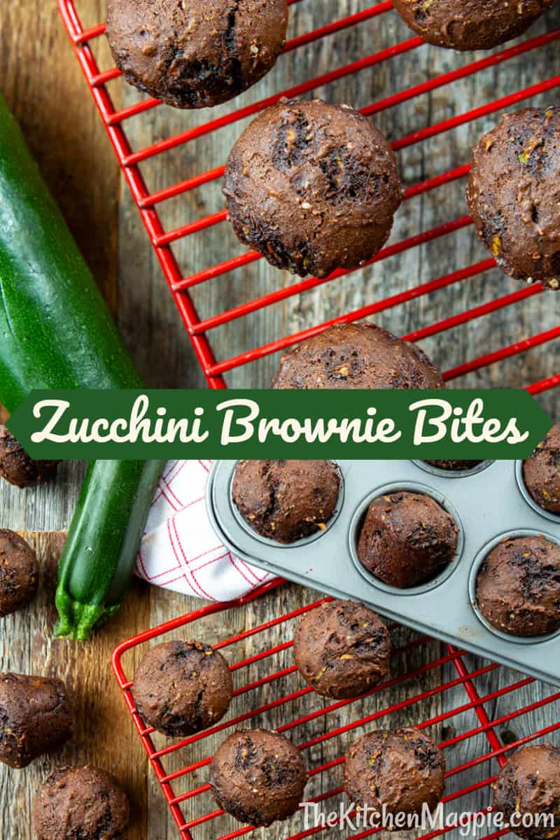 These brownie bites are perfect for school and work lunches -and they are almost completely guilt-free being made with natural sweeteners (honey and molasses) and no oil!