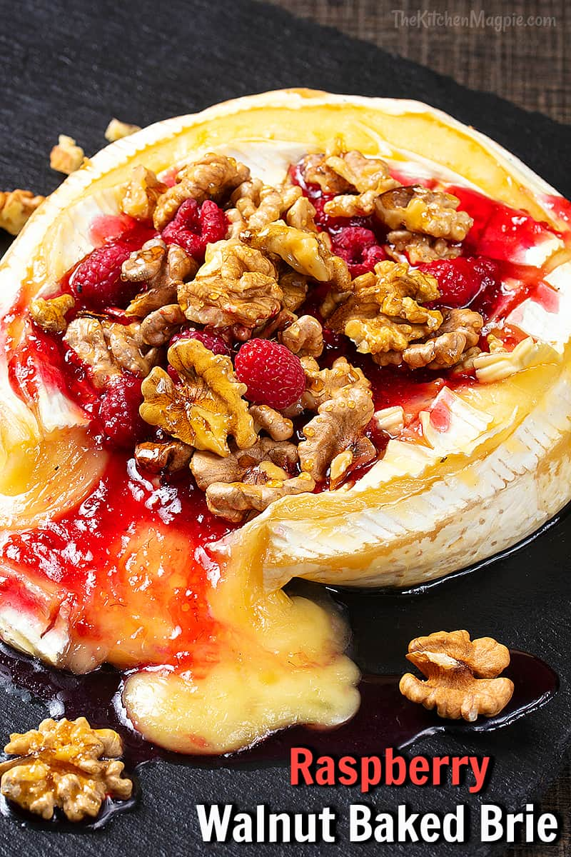 This creamy, sweet and nutty baked Brie is fast, simple and so delicious it will soon become a new holiday favorite! #christmas #thanksgiving #holiday #cheese #brie #appetizer