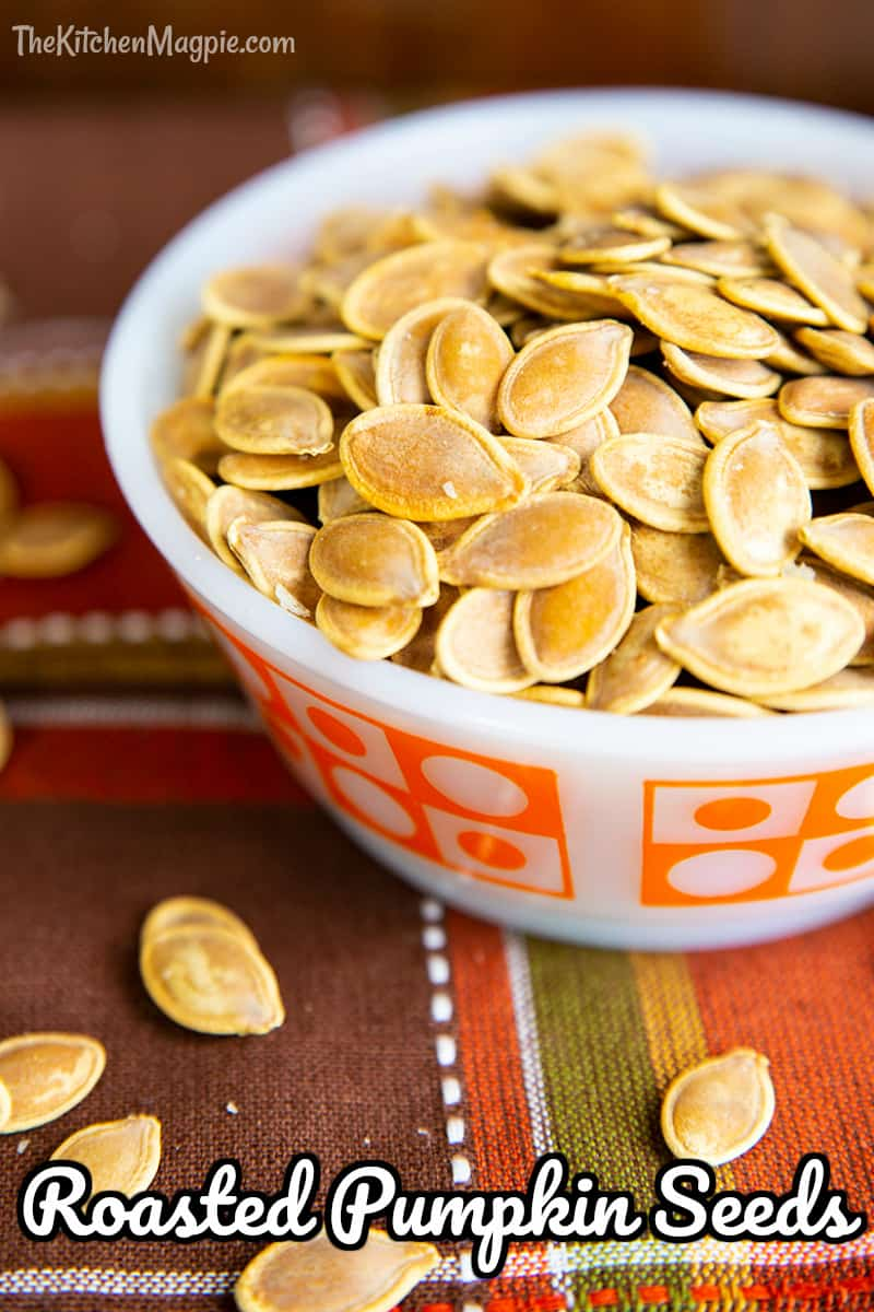 One of the best parts of carving a fresh pumpkin is enjoying roasted pumpkin seeds as your reward! This recipe yields salty, crispy pumpkin seeds that the whole family will love snacking on.