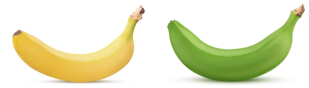 Yellow and green bananas - how to ripen bananas