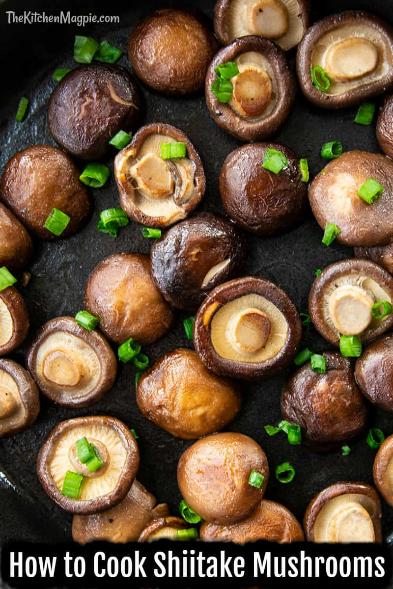 Shiitake mushrooms are a strong, earthy flavored mushroom that is best simply fried and used in other dishes such as pho or as an accompaniment to a main meal.