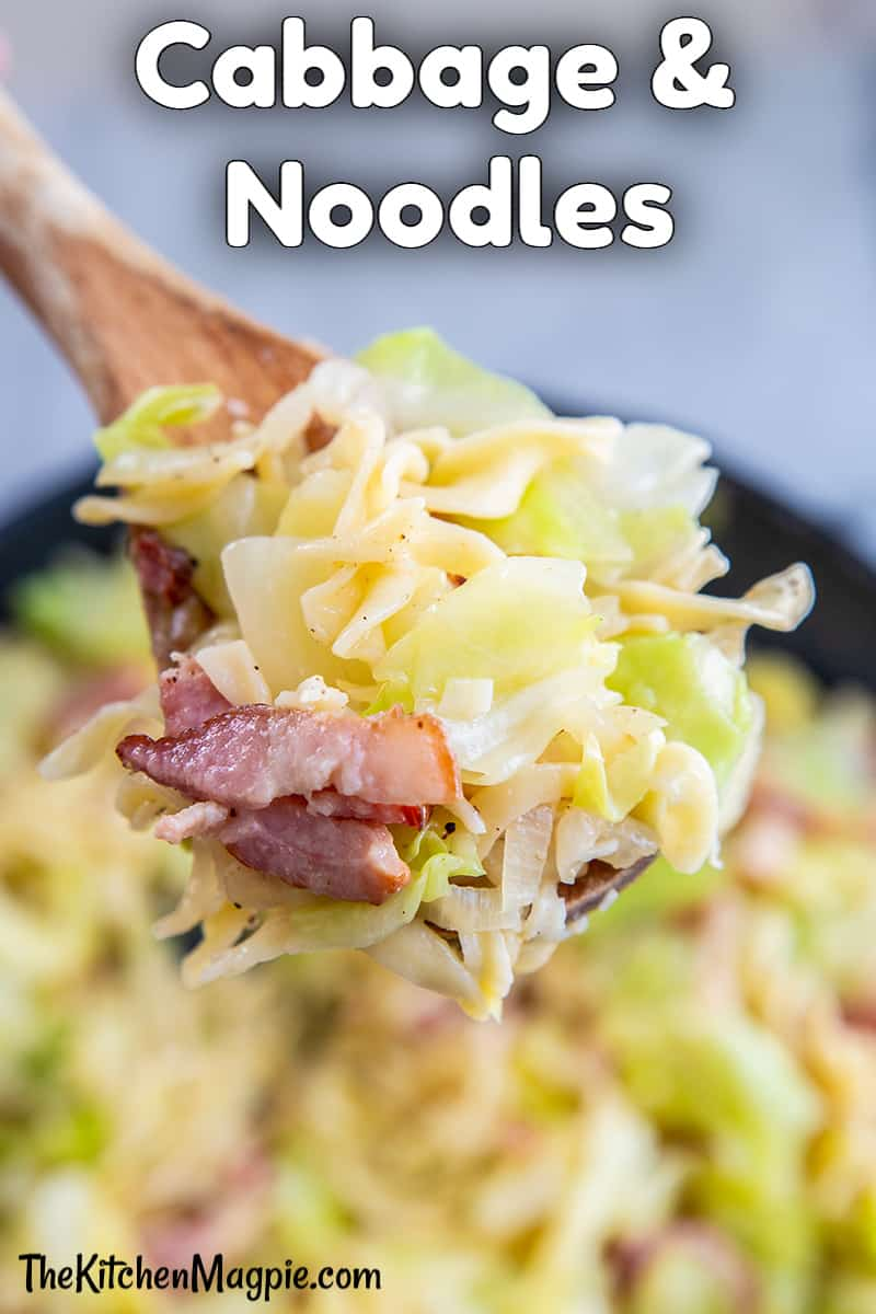 Fried cabbage and noodles is a classic Eastern European dish that is so fast and easy to make! You can customize it to your liking with bacon, sausage or another meat!