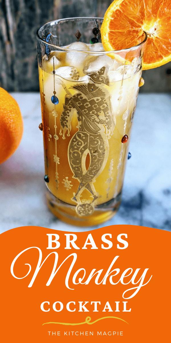 Brass Monkey Cocktail made with Dark Rum, Vodka and Orange Juice #rum #vodka #orangejuice #cocktail