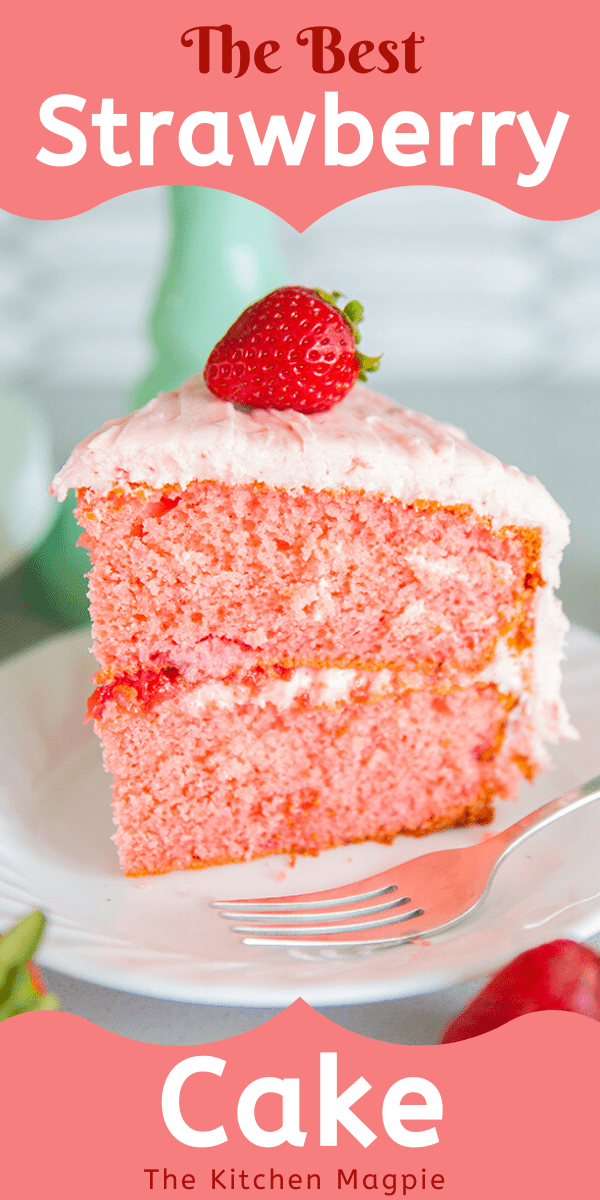 This wonderfully vintage strawberry cake recipe uses the best of all worlds : a cake mix to make it quick, fresh strawberries to enjoy the bounty of the season AND a strawberry buttercream frosting that will blow your mind!