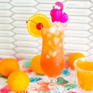 Hurricane Cocktail in a
