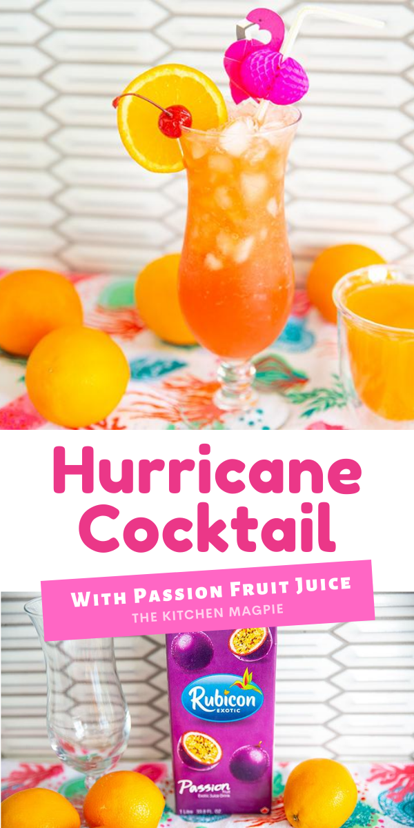 How to make the rum based hurricane cocktail made with passion fruit juice.