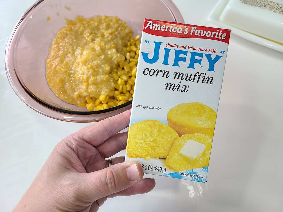 box of Jiffy mix
