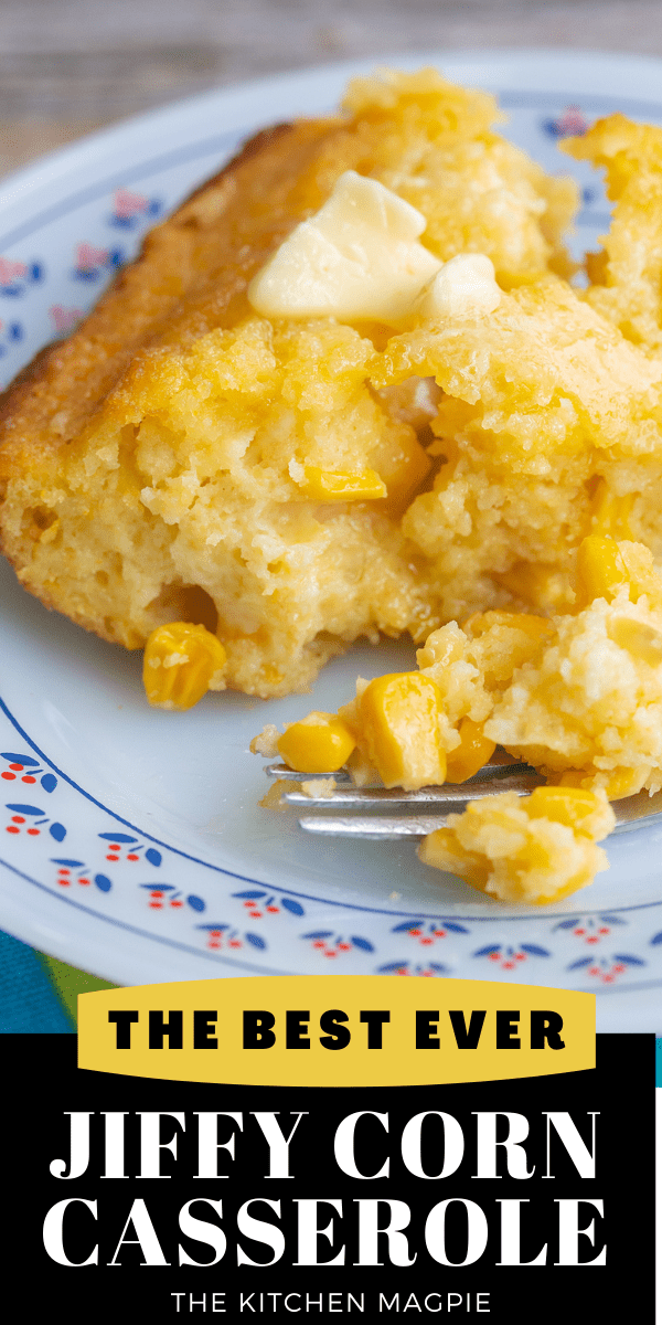 How to make the best Jiffy corn casserole around with Jiffy corn muffin mix. Crispy, buttery brown cornbread edges with a soft corn casserole middle makes this literally the BEST corn casserole ever!