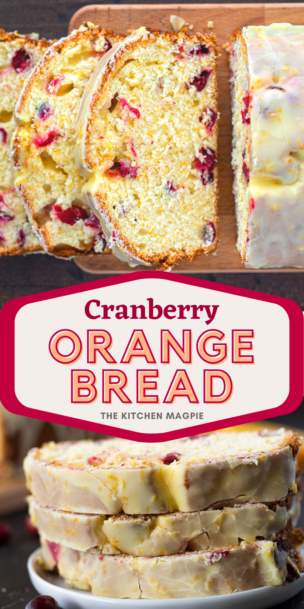 This decadent cranberry orange baked is baked up and drizzled with a fabulous orange icing glaze for the perfect sweet treat!