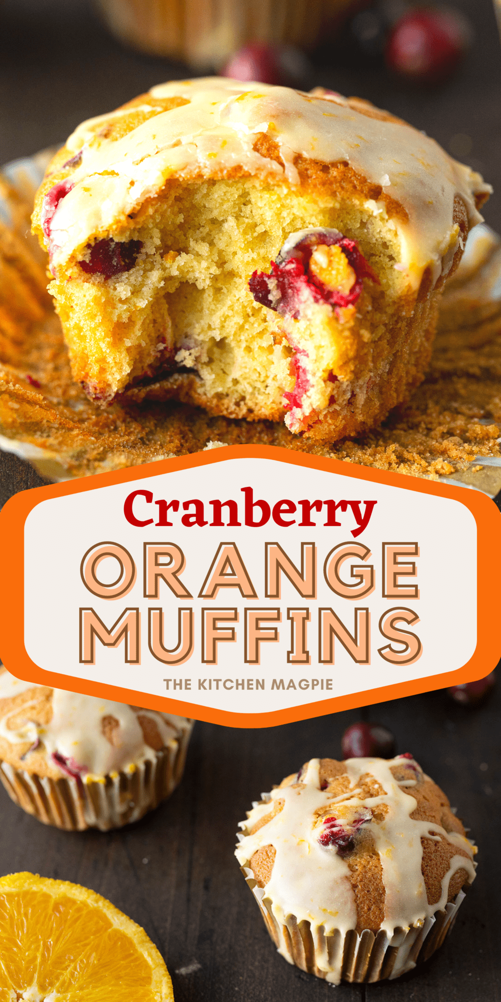 These cranberry orange muffins are loaded with fresh cranberries, fresh oranges and are the perfect taste of the season!