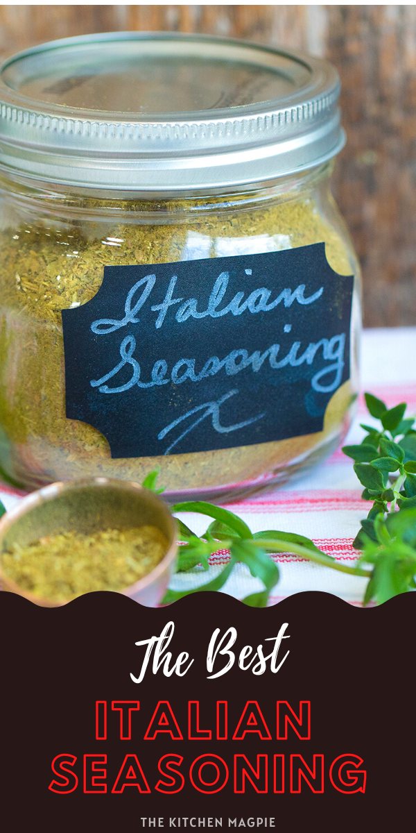 How to make your own homemade Italian seasoning to use in recipes! All of the spices are readily available at your local store!