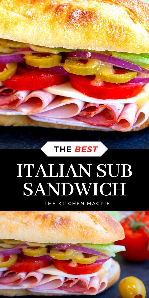 The Best Italian Sub #sandwich #italian #sub #recipe