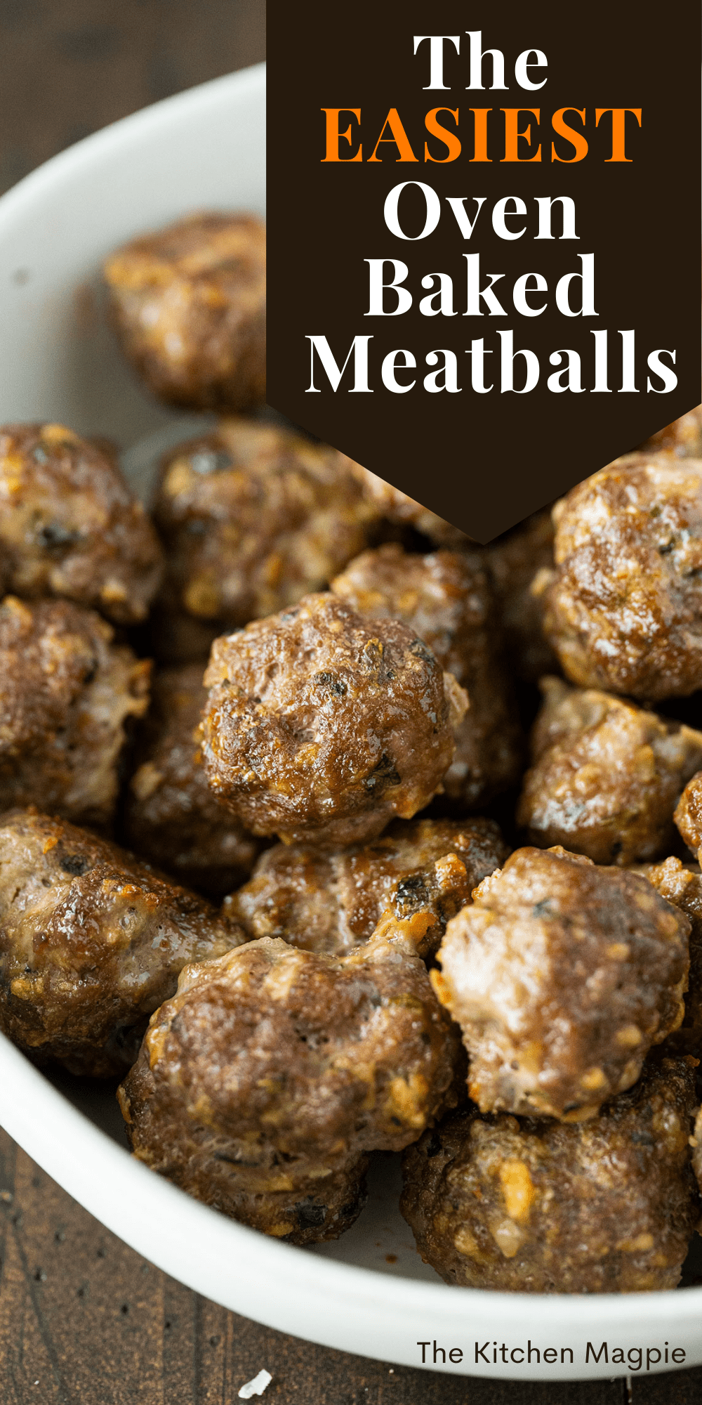These oven baked meatballs are so easy to make and are the perfect make-ahead freezer meal! Make a double (or triple!) batch and freeze them for later use!