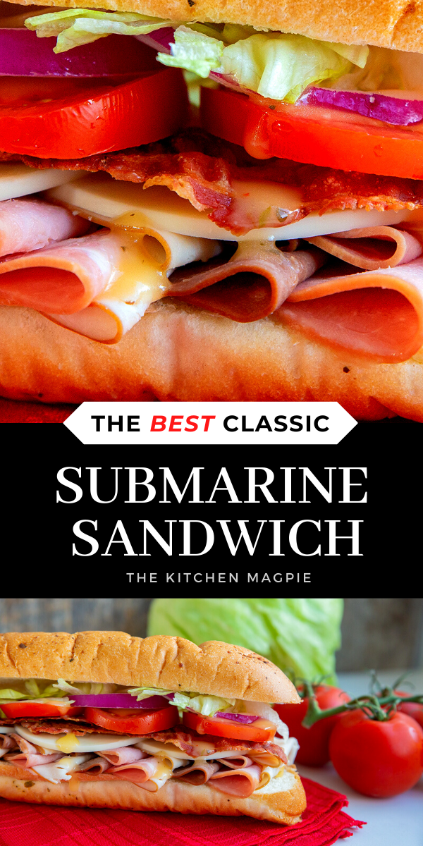 A Delicious Submarine Sandwich is one of the best ways to enjoy lunch! #submarine #sandwich #recipe