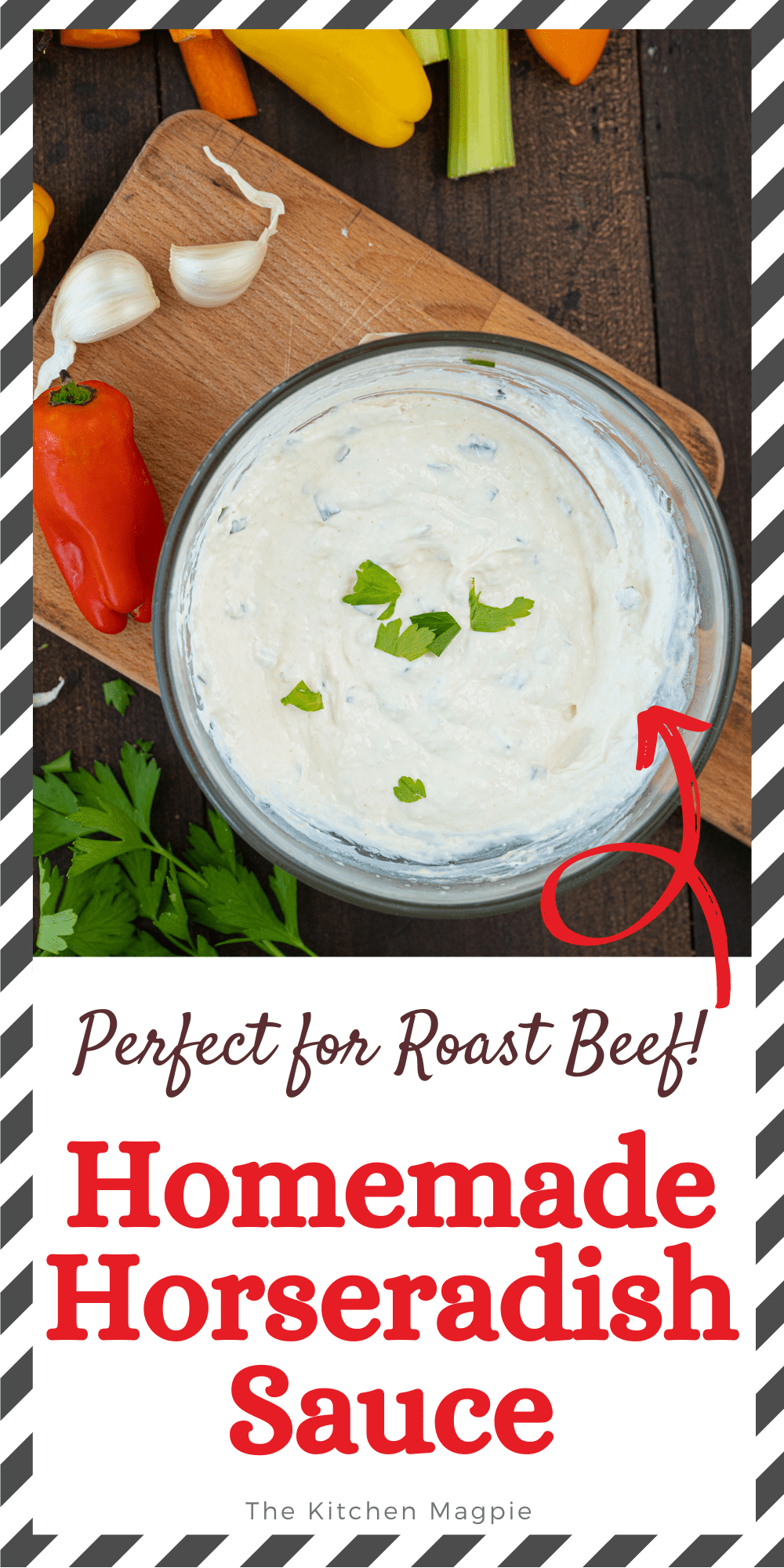 This spicy Horseradish Sauce is the perfect accompaniment for any beef recipe and the ingredients are so simply to customize to your own liking!