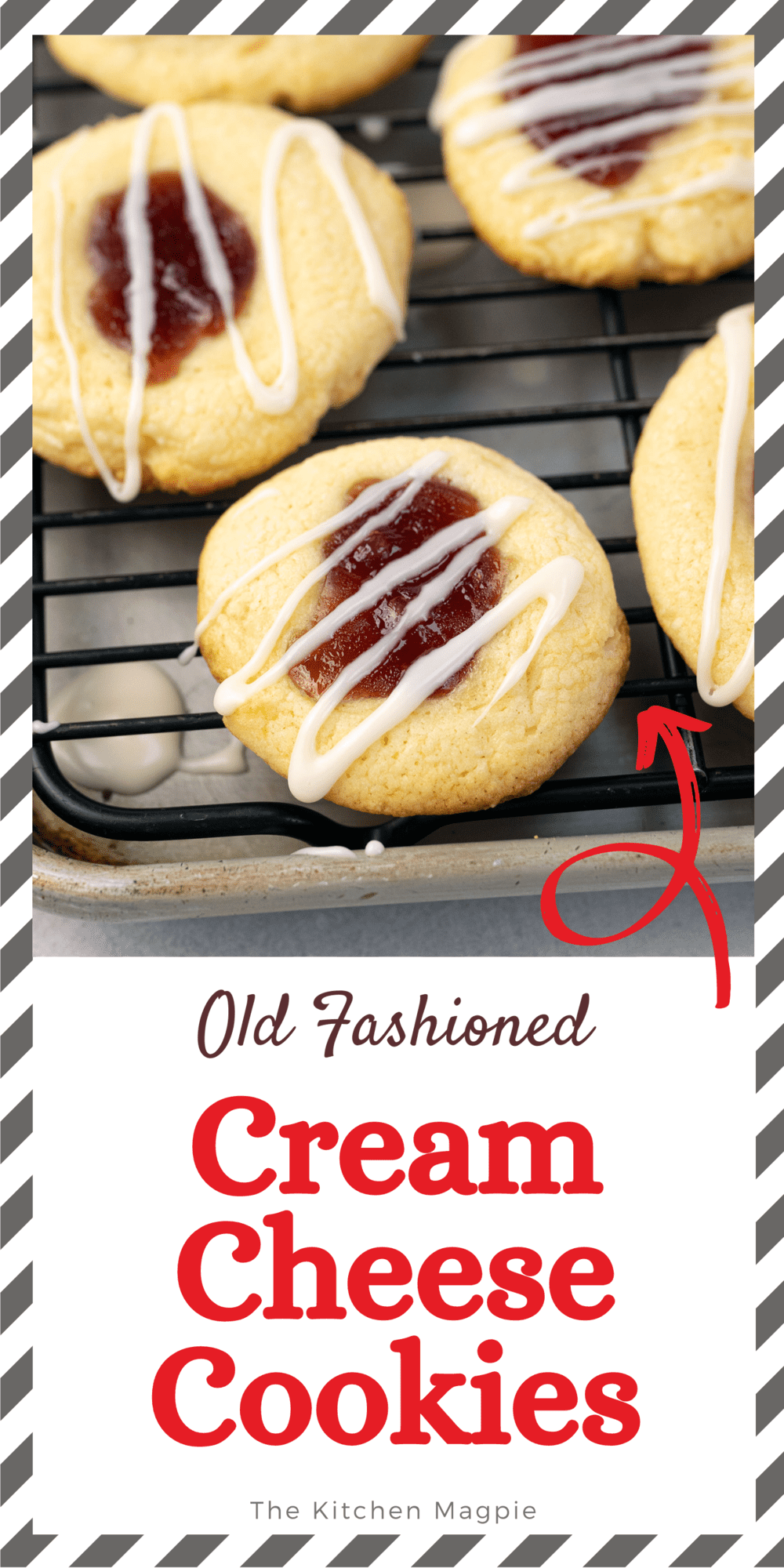 These cream cheese cookies are the perfect tangy, sweet thumbprint cookie! Fill them with jam or even a peppermint candy!