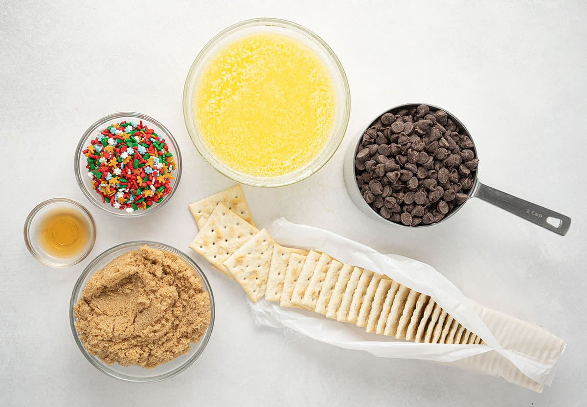 Ingredients for Christmas Crack
