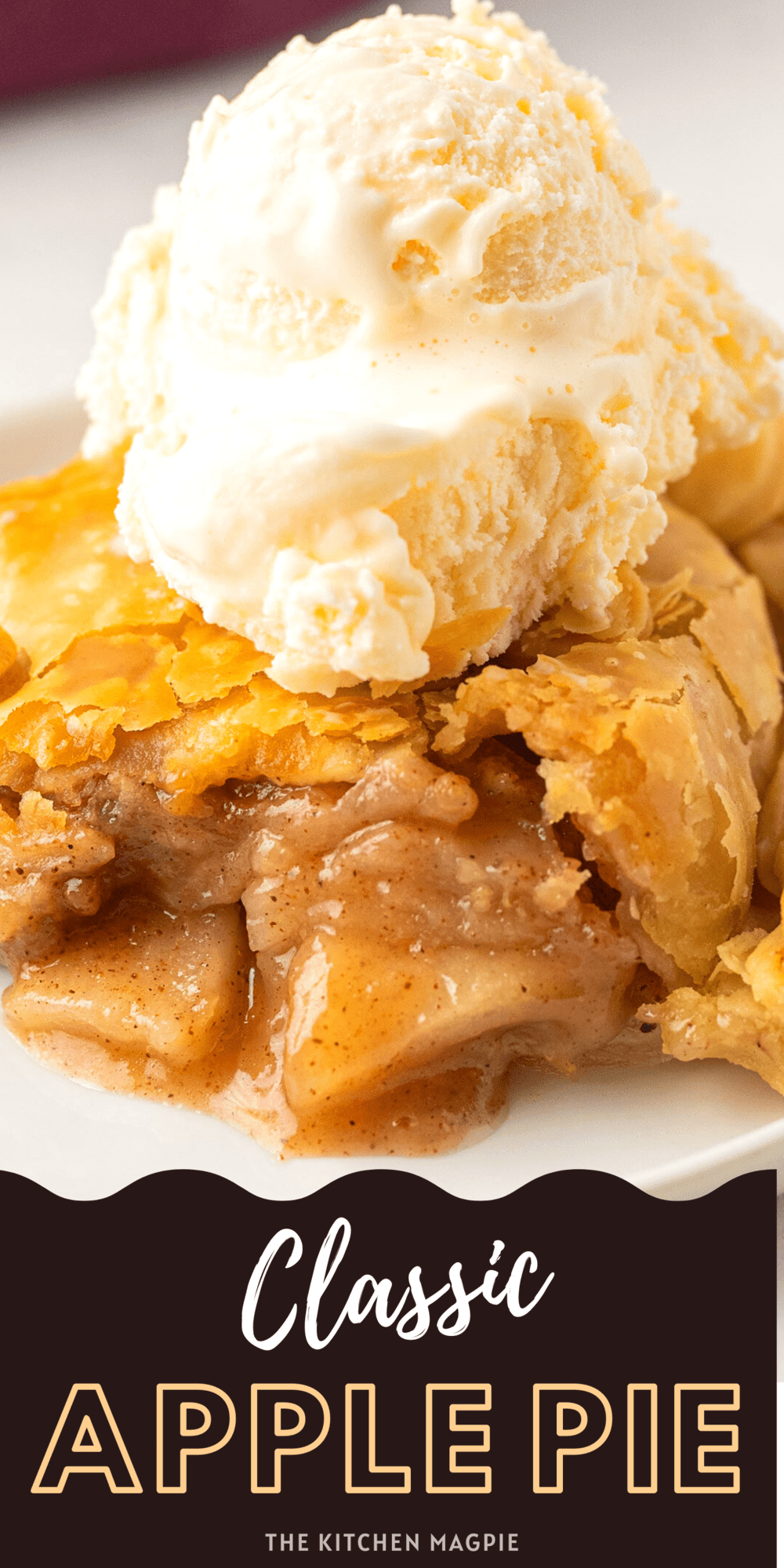 Nothing beats a classic apple pie bursting with sweet cinnamon apple filling that is sandwiched between two perfectly flakey pie crusts!