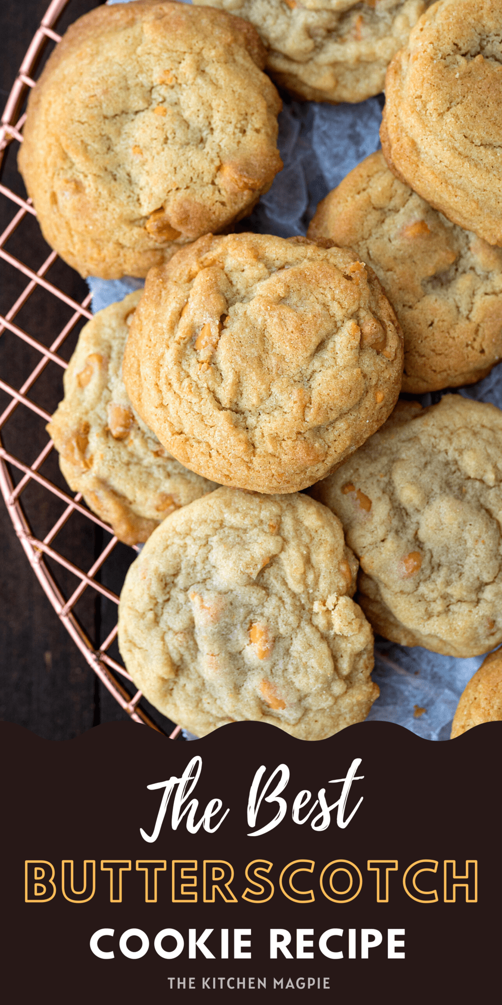 These butterscotch cookies are perfectly chewy and sweet, and loaded with butterscotch chips!