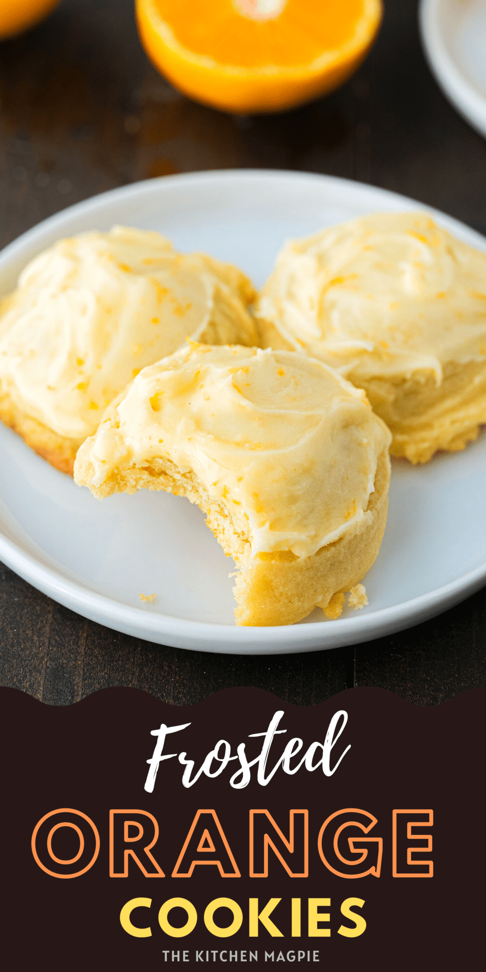 These buttery soft orange cookies are bursting with flavor and are topped with a perfect sweet, tangy orange icing glaze.