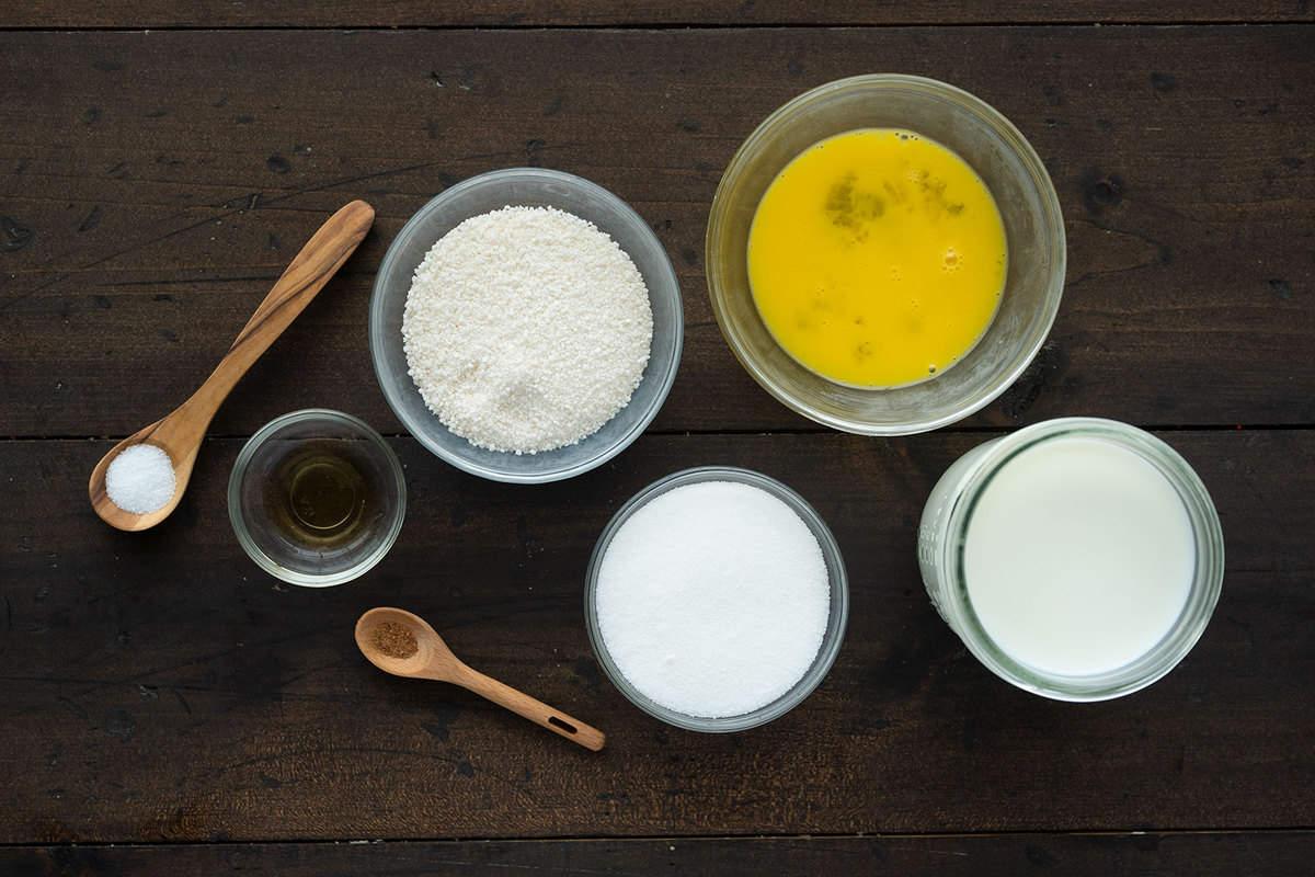 ingredients for tapioca pudding