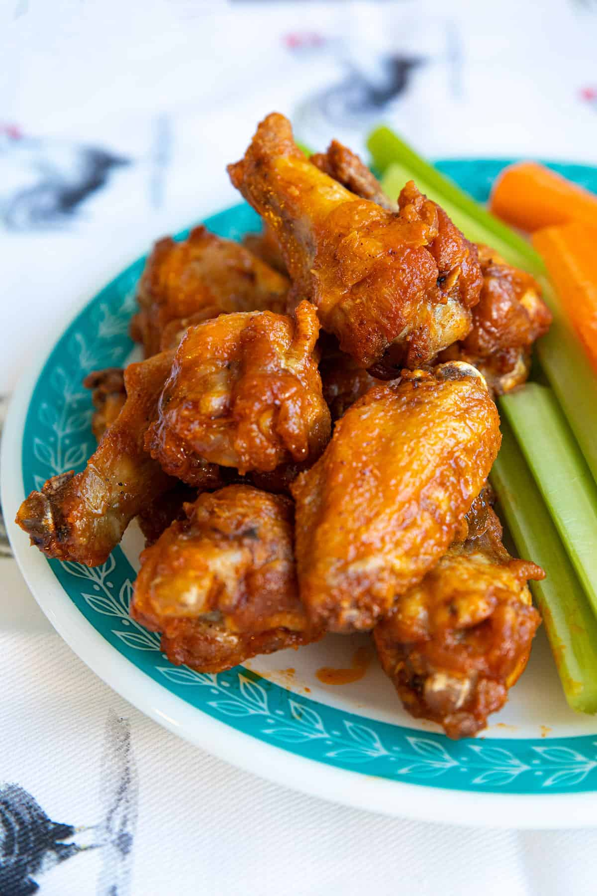 Close up of Buffalo Wings on a plate