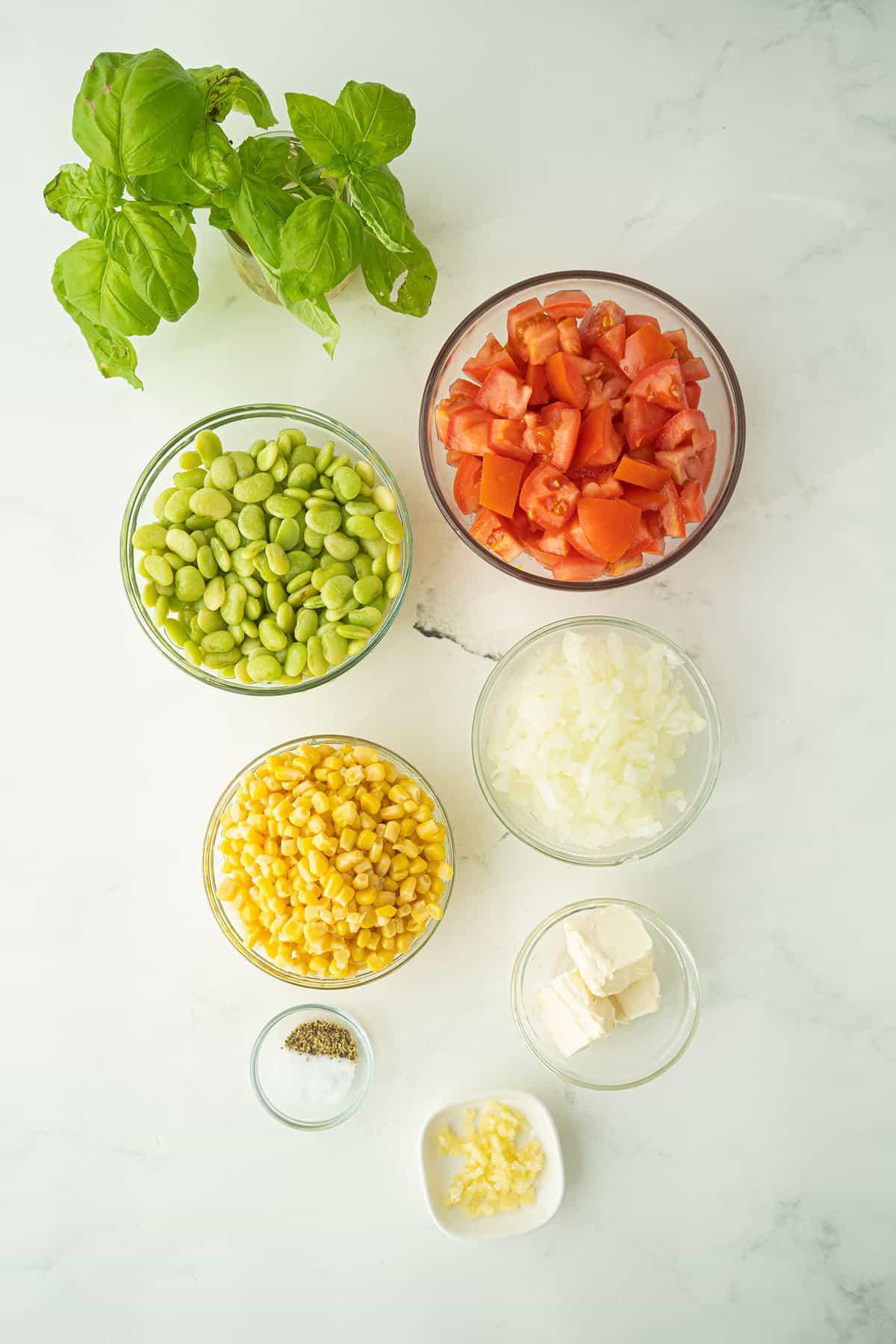 ingredients for succotash