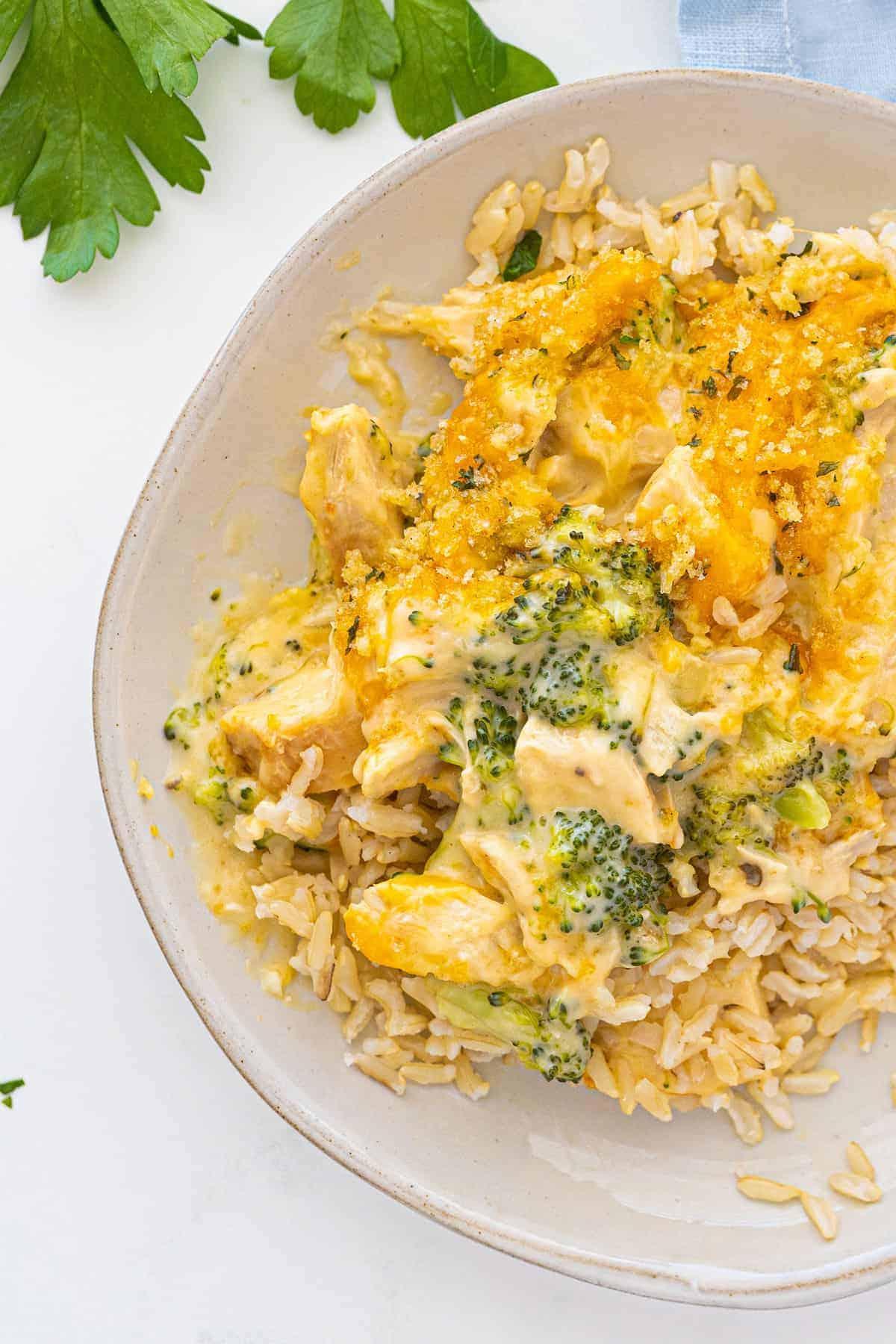 chicken divan on rice