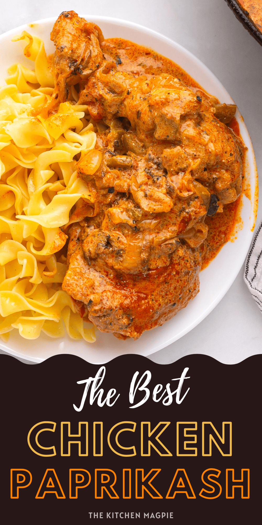 Chicken thighs and legs are simmered in a smoky, decadent paprika based vegetable sauce until tender perfection! Serve over egg noodles, rice or dumplings!